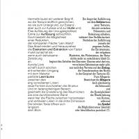 Aus dem Katalog LEIN.WAND, Text links: Birgit Schwaner, Text rechts: Dr. Wolfgang Ernst (D)